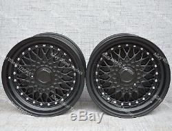 15 Black RS Alloy Wheels For Ford B max Cortina Courier Ecosport Escort 4x108