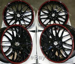 18 Red Motion Alloy Wheels Ford B max Cortina Courier Ecosport Escort 4x108