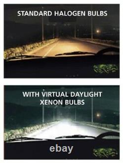 1pr Ford Cortina Mk1 Mk2 Escort Headlights HID Hi/Lo 7 round lights