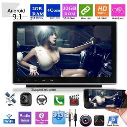 2 Din 9 Android 9.1 1080P RAM 2GB ROM 32GB Car Stereo Radio GPS Wifi 3G 4G DAB
