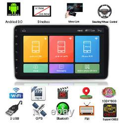 9 1-Din Android 9.0 Car MP5 Player Touch Screen Stereo Radio GPS WIFI 1 + 16GB