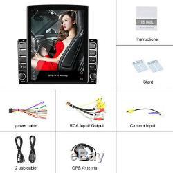 9.7'' Android 9.1 2Din Car Stereo Sat Nav GPS Bluetooth Player WiFi DVR 1+16GB