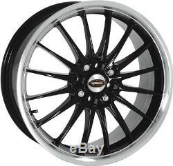 Alloy Wheels (4) 7.0x17 Team Dynamics Jet Black/Red 4x100/108 et38