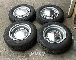 Banded Steel Wheels Essex Ford 4 X 108 Anglia Cortina Escort With Tyres