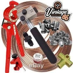 Classic FORD SAE 3/16 Copper Nickle Kunifer Brake Pipe Flaring Restoration Kit