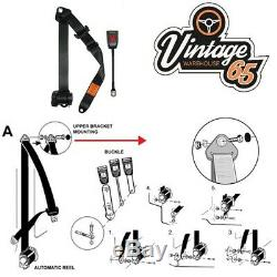 Classic Ford Front Pair Fully Automatic Inertia Beige Seat Belt Kits E Approved