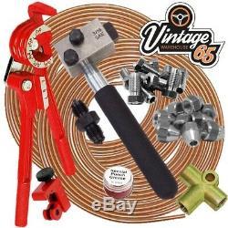 Classic Mini SAE 3/8 UNF 24 tpi 3/16 Copper Brake Pipe Flaring Restoration Kit