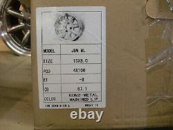 Cortina Escort Capri 8x15 Deep Dish Alloy Wheel Set Jbw Minilight Style, Ford
