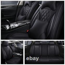 Deluxe Edition Seat Cushion Microfiber Leather Car Seat Covers Full Set 4 Season