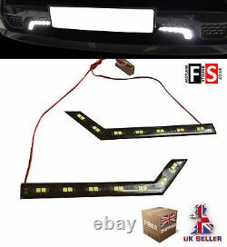 Drl Led Daytime Running Lights-pair 7 Led Lamps-waterproof Frd1