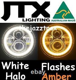 Ford Cortina Mk1 Mk2 Escort LED Halo 7 JTX Headlights Flash AMBER