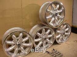 Ford Escort Capri Cortina 6 X 14 Dish Alloy Wheel Set Jbw Minilight Style 14 X 6