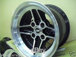 Ford Escort Capri Cortina 7.5x13 Alloy Wheel Set Jbw Rs4 Spoke Style 7 1/2 X 13