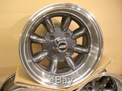Ford Escort Capri Cortina 7x13 Deep Dish Alloy Wheel Set Jbw Minilight Style