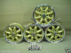 Ford Escort Cortina Capri 5.5x13 Alloy Wheel Set Jbw Minilight Style 13x5.5