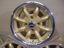 Ford Escort Cortina Capri Gold 6x13 Alloy Wheel Set Jbw Minilight Style 13x6
