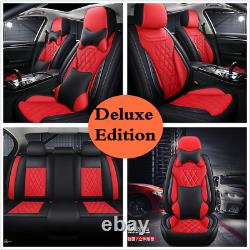 New 5D Luxury PU Leather Car Seat Cover Full Surround 5-Seat Protector Cushions