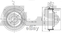 REAR BRAKE DRUMS FOR FORD ESCORT MK1 CAPRI SIERRA ORION 203MM 8INCH x2