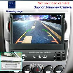 Retractable 7in Android 9.0 Single DIN 16G GPS Bluetooth Car Stereo MP5 Player