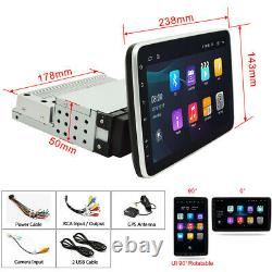 Rotatable 2+32GB Android 10.1 9In Car Stereo FM MP5 Player Bluetooth GPS Sat NAV