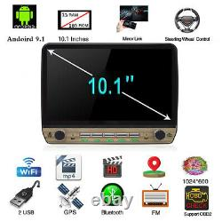 Single 1DIN 10.1in HD Touch Screen Car Stereo Radio GPS Navigation FM MP5 Player