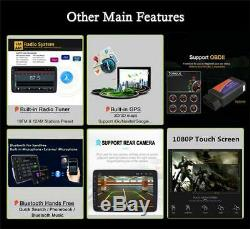 Touch Screen 10.1 Single Din 4-Core Rotatable Android 8.1 Car GPS Wifi DAB OBD