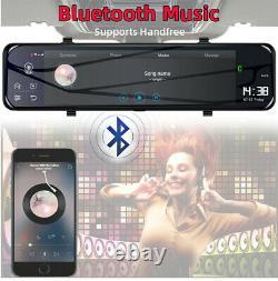 Touch Screen 12 Dual Lens Car DVR Rear View Mirror Camera Recorder Dash Cam 4G