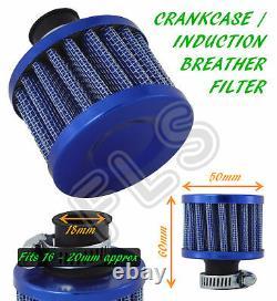 UNIVERSAL OIL MINI BREATHER AIR FILTER FUEL CRANKCASE UN1109-18 BLUE-Ford 1