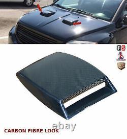Universal Decorative Air Flow Intake Bonnet Vent Cover Hood Carbon Fibre-frd1