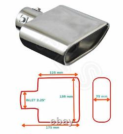 Universal Stainless Steel Exhaust Tailpipe 2.25 Inlet Yfx-0267 Frd1