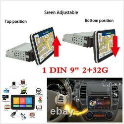 1 Din Android 8.1 9 Rotatif Quad-core 2 + Wifi 32g Voiture Stéréo Radio Gps Dab Obd