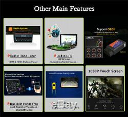 10,1 Pouces Android 9.0 Quad Core 16g Navigation Voiture Radio Stéréo Lecteur Head Unit