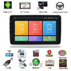 10.1in 2din Voiture Stereo Radio Fm Wifi Mp5 Lecteur Android 9.1 Gps Sat Nav Caméra