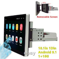 1din 10.1in Android 9.1 Voiture Stéréo Radio Gps Navigation Fm Wifi Bluetooth Player