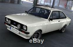 2 Ford Escort Rs Capri Cortina Felgen 7x13 Schwarz / Poliert Tüv Teilegutachten