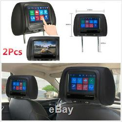 2x 12v 7 Écran Tactile Universal Automobile Moniteurs Têtière Mp5 Fm Usb Bt Ir