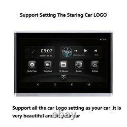 2x10.1 Quad-core Car Moniteurs Tactiles Écran Hd Headrest Android 6.0 Bt Hdmi Fm