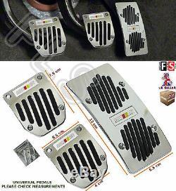 3pcs Universal Pédale Manuel De Voiture Pad Couverture Non Slip Aluminiumford 1