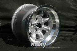 4 Ford Escort Capri Taunus Cortina Felgen 9x13 Silber / Poliert Tüv Teilegutachten