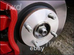 5mm Hub Centric Alloy Wheel Spacers For Ford 4x108 Pcd 63.4 Paire Shims 2hx
