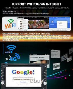 6.2 Double 2din Lecteur DVD De Voiture Tactile Radio Stéréo Gps Sat Nav Android 9.0 2 + 16g
