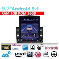 9.7 '' Hd Android 1 + 16 Go Radio Stéréo Lecteur Gps Wifi 3g 4g Bt Mirror Lien Obd