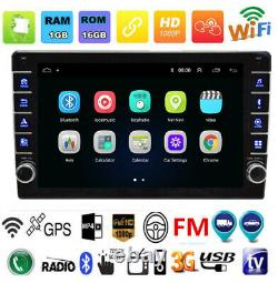 9in Quad Core Android 8.1 Voiture Stereo Mp5 Lecteur Gps Wifi Bluetooth Fm Radio 1din