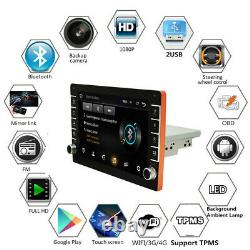 Android 8.1 9in Single Din Car Stereo Radio Gps Sat Nav Touch Écran Wifi+camera