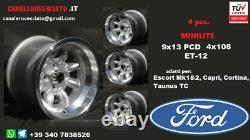 Cerchi Minilite 9j 13 Pollici Ford Escort Capri Cortina Taunus Tc Roues Felgen