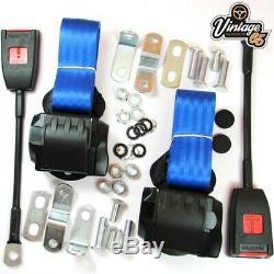 Classique Ford Avant Paire Entièrement Automatique Seat Inertie Ceinture Bleue Kits E Approuvé