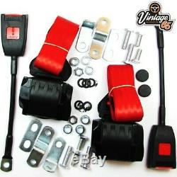Classique Ford Avant Paire Entièrement Automatique Seat Inertie Ceinture Rouge Kits E Approuvé