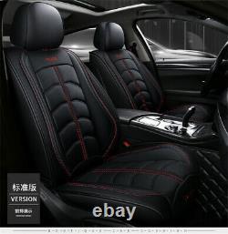 Coussin De Luxe Pu Cuir Noir Seat Covers Set Complet Accessoires 4 Saisons