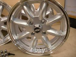Ford Capri Cortina Escort 5.5x15 Dish Alloy Wheel Set Jbw Minilight Style 15x5.5