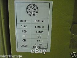 Ford Escort Capri Cortina 6 X 14 Roues En Alliage Vaisselle Set Jbw Minilight Style 14 X 6